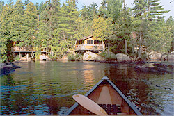 Photo: cabin at Cabin Falls, Lady Evelyn River, Temagami